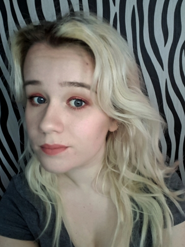 Eyeshadow applied